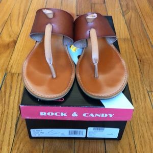 Rock & Candy Leather Thong Sandals